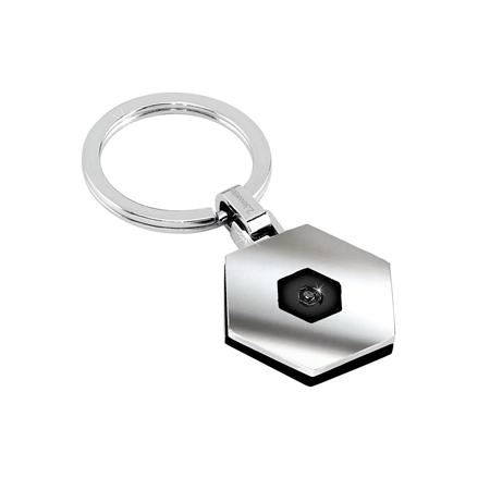 2jewels portachiavi 2jewels hexagon acciaio e pvd nero 281028