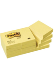 BLOCCO 100fg Post-it®Giallo Canary 38x51mm 653 (unità vendita 12 pz.)