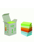 BLOCCO 100foglietti Post-it®Notes Green 38x51mm 653-1GB NATURAL (unità vendita 6 pz.)