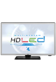 "Trevi 1902 SAT TV HEVC Multisystem 19"" HD Nero LED TV"