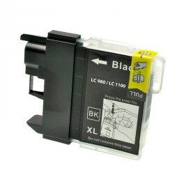 CARTUCCIA LC980 LC1100 NERA COMPATIBILE PER BROTHER  LC 61 LC 980  LC 1100 ALTA CAPACITA 28ML
