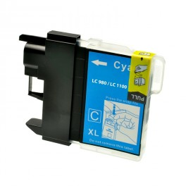 CARTUCCIA LC980 LC1100 CIANO COMPATIBILE PER BROTHER  LC 61 LC 980  LC 1100 ALTA CAPACITA 12ML