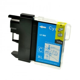 CARTUCCIA LC 985 CIANO COMPATIBILE PER BROTHER Dcp J315W,Mfc J410,Dcp J125,J515W,Mfc J265W LC985 ALTA CAPACITA' 20ML