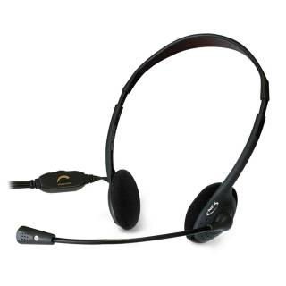 NGS MS103 Cuffie con Microfono Stereo Jack 3.5mm Nero