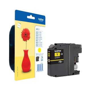 Brother LC-121Y Cartuccia InkJet 300 pagine Giallo