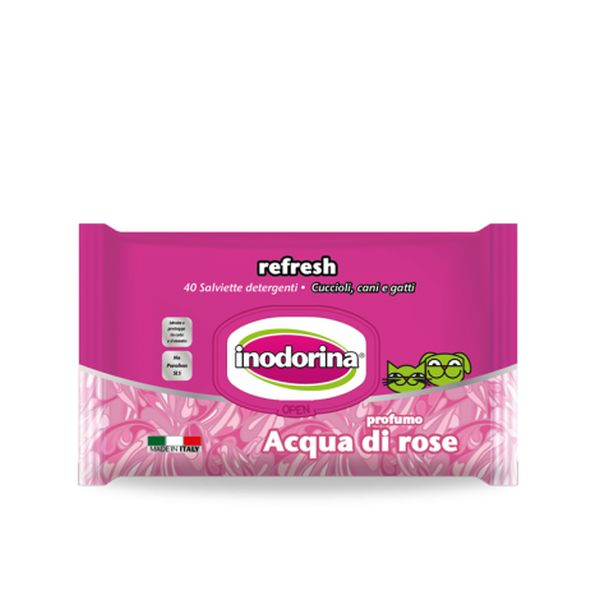 Inodorina Refresh 40 salviette Acqua di Rose