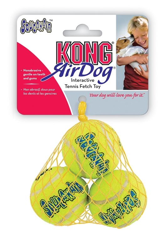 Kong Air Squeaker Tennis Ball Gioco per Cani Small 3pz