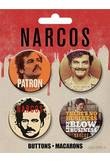 NARCOS PABLO BUTTONS 4 PACK
