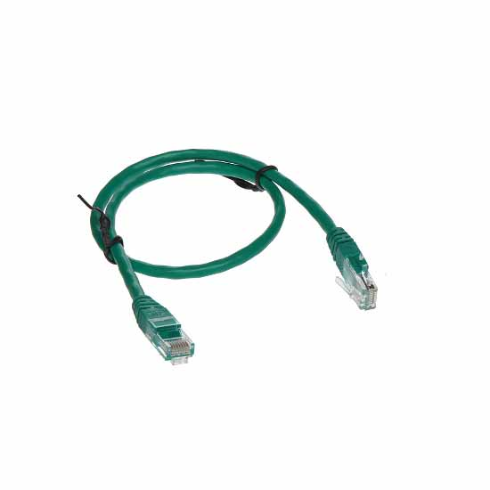 Cavo di rete UTP CAT 5e Verde Patch Cord 0,5MT Connettori RJ-45