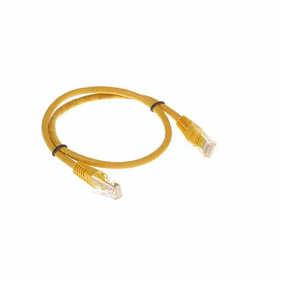 Cavo di rete UTP CAT 5e Giallo Patch Cord 0,5MT Connettori RJ-45