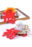Moda creativa Fu Word design Coasters Red