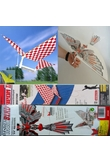 DIY monta Volare Uccello Gomma Powered Ornithopter Toy