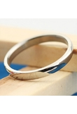 Fashionable Titanium Simple Style Men Ring Silver 18mm