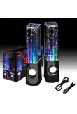 LED Light Dancing Water Speaker Music Box USB for PC Laptop MP4 Cell Phone Black