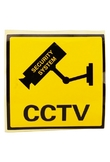 Attenzione Stickers CCTV Monitoraggio Black and Yellow
