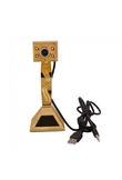 2MP Pyramid Shaped Webcam Web Camera with Microphone and 4 LED