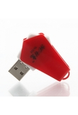 LY USB 2.0 Card Reader Ruota design Red