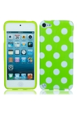 Caso splendida TPU posteriore per iPod Touch 5 Green Point fondo bianco