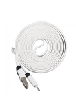 2M Flat USB Data And charger Cable for iPhone 5 iPad Mini White