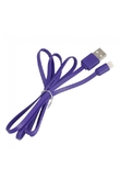 1M Flat USB Charger Cable for iPhone 5 iPad 4 Mini Dark Purple
