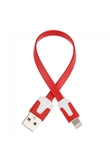 20cm Flat USB Data Charging Cable for iPad Mini/4/iTouch 5 Red