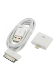 USB a 30-pin Adapter Cable + 30-pin a 8 pin-Adapter lampo per iPhone 5