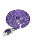 200cm 8-pin Lightning Data Charging Cable for iPhone 5/5C/5S Purple + Green