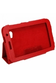 """7 Case """"in pelle Tablet PC per Samsung Galaxy Tab P6200 P3100 Red"""