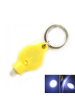 1 LED Bulb Keychain Flashlight Torch Yellow
