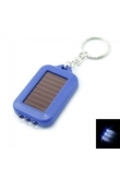 3 LED Mini energia solare Torcia Flashlight Keychain Red