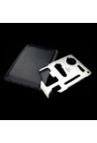 Multi-function Portable Stainless Tool Card Small Size Silver