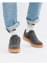 Nike - Air Force 1' 07 Style - Sneakers nere con suola in gomma AQ0117-002 - Nero