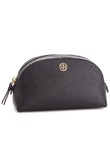 Pochette per cosmetici TORY BURCH - Small Makeup Bag 46475 Black/Royal Navy
