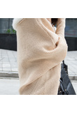 Cardigan con collo in pelliccia sintetica - Beige - XL