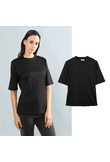 T-shirt in jersey a girocollo - L