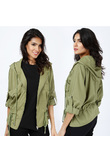 Giacca con coulisse avvitata - Verde - 4XL