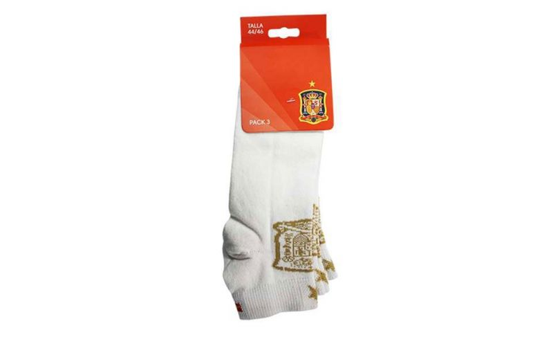 Pack 3 Calcetines Tobilleros Selecci�n Espa�ola Blanco Hombre