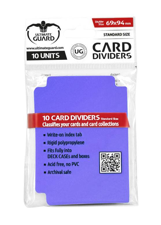 Ultimate Guard Card Dividers Standard Size Purple (10)