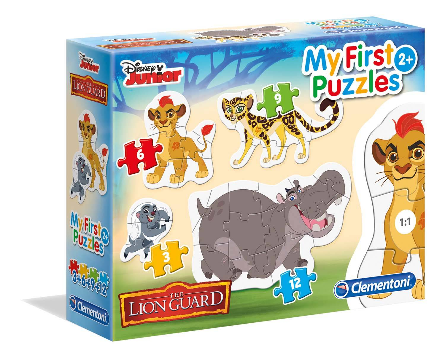 PUZZLE 3-6-9-12 MY FIRST PUZZLES LION GUARD