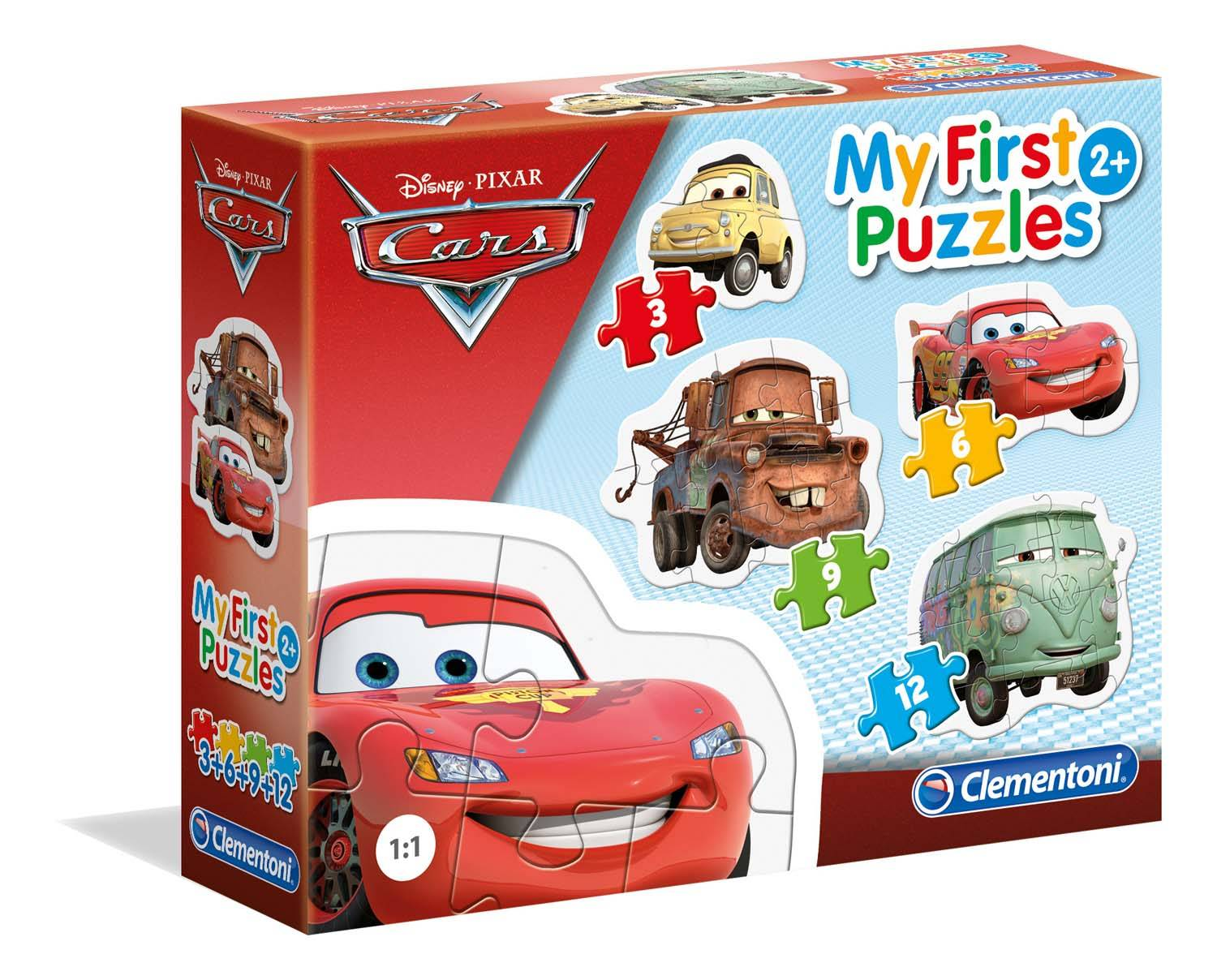PUZZLE 3-6-9-12 MY FIRST PUZZLES CARS