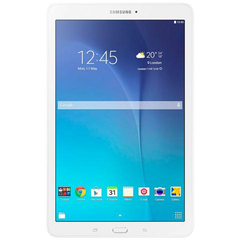 SM-T560 Galaxy Tab E White Display 9.6'' Quad Core Ram 1.5GB Storage 8GB + Slot MicroSD WiFi Doppia Fotocamera 5Mpx / 2Mpx Android 4.4 - Italia