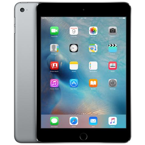 iPad Mini 4 Display Retina 7.9'' 128GB Wi-Fi + Cellular LTE Bluetooth iOS 9 - Grigio Siderale