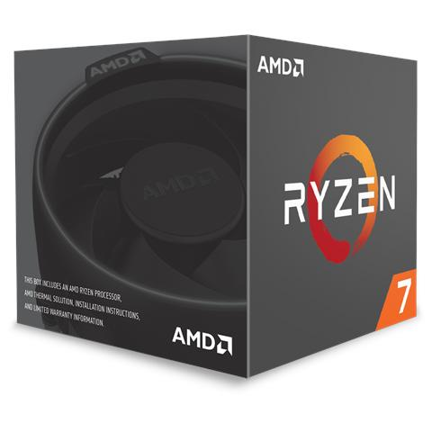 Processore Ryzen 7 1700 (Zen) 8 Core 3 GHz Socket AM4 Boxato (Dissipatore Wraith Spire Incluso)