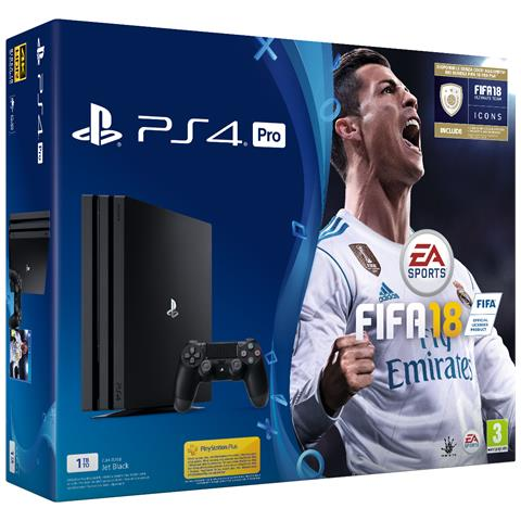 Console Playstation 4 Pro 4K e HDR 1 Tb + Fifa 18 Limited Bundle