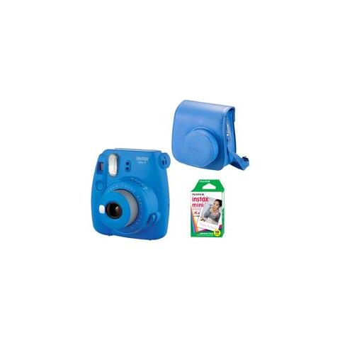 INSTAX MINI 9 COBALT BLU KIT 10+BAG