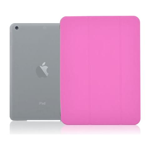 Crystal Slim Custodia a Libro con Back Trasparente per iPad Air 9,7'' Colore Rosa