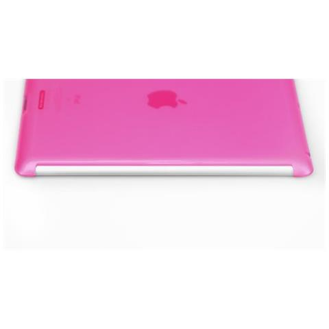 IPAD3-SOFT-SHELL-02 Cover Rosa custodia per tablet
