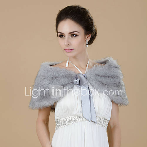 Bella Faux Fur sera / Wedding scialle