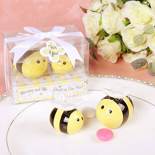 Mommy and Me ... dolce come può Bee Ceramic Salt & Pepper Shakers Honeybee