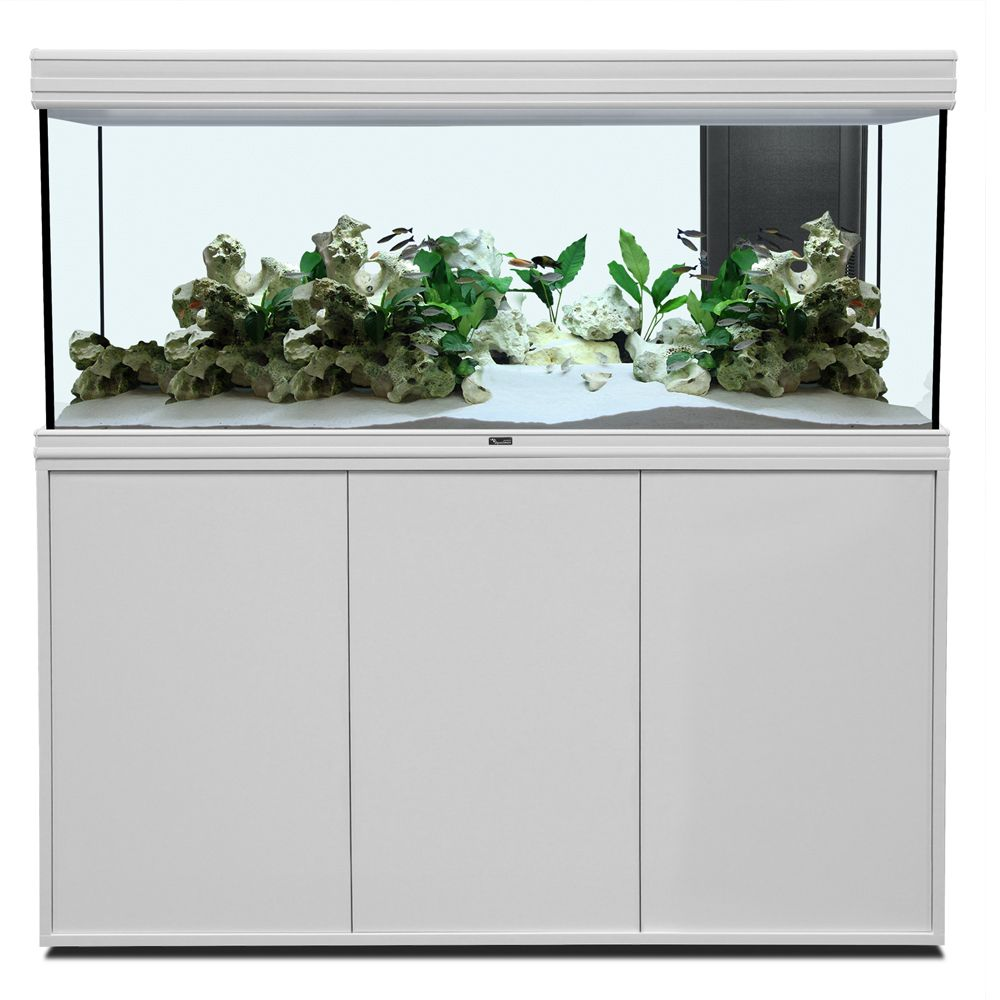 Set acquario + supporto Aquatlantis Fusion 150 LED - quercia beige